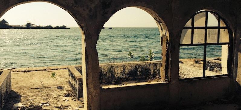 La mansión de Escobar con vistas al mar Caribe