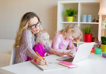 Cómo teletrabajar con niños en casa